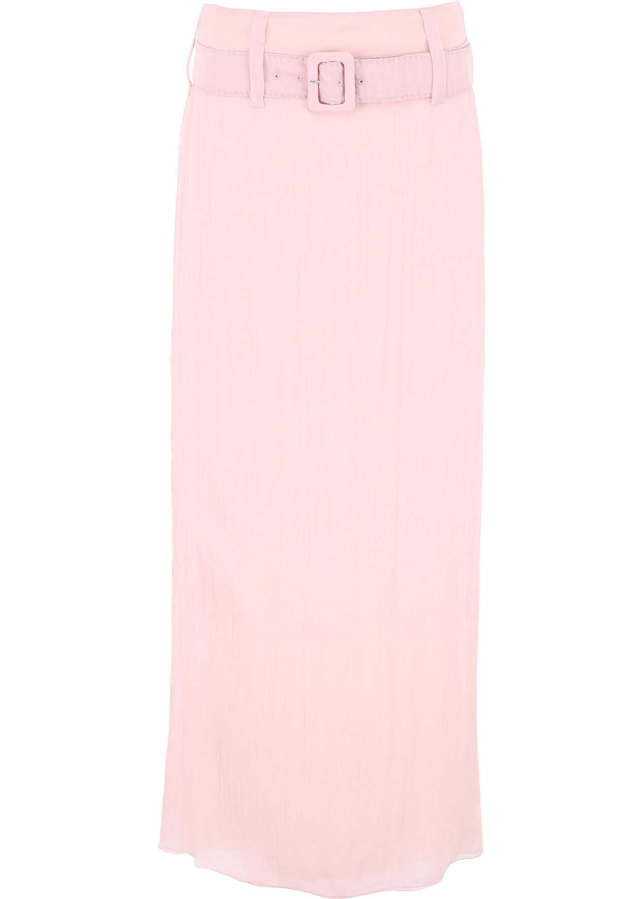Prada Long Crepon Skirt OPALINE