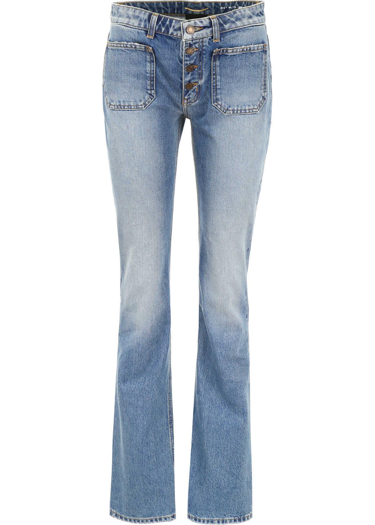 Saint Laurent Flare Jeans USED 70 S BLUE