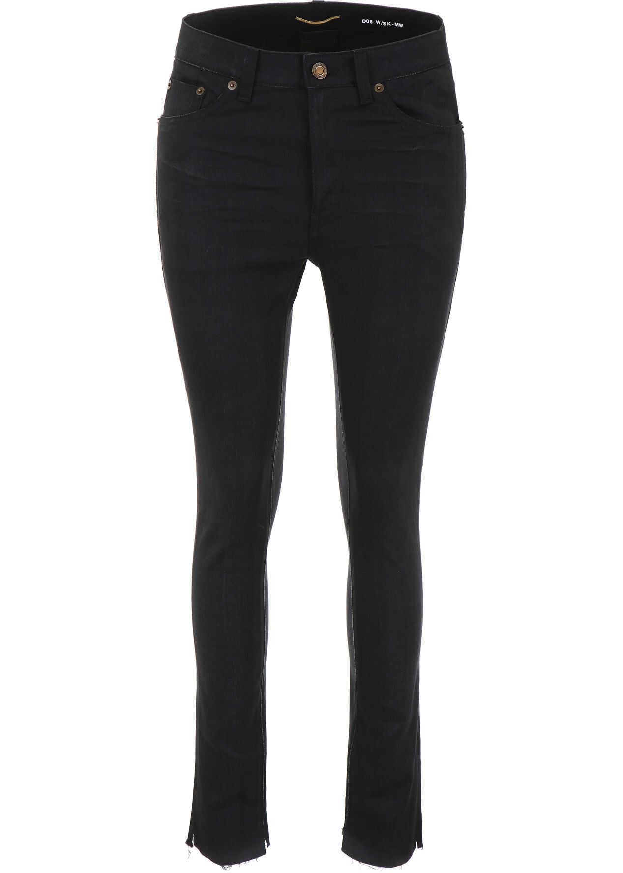 Saint Laurent Raw Cut Jeans USED BLACK