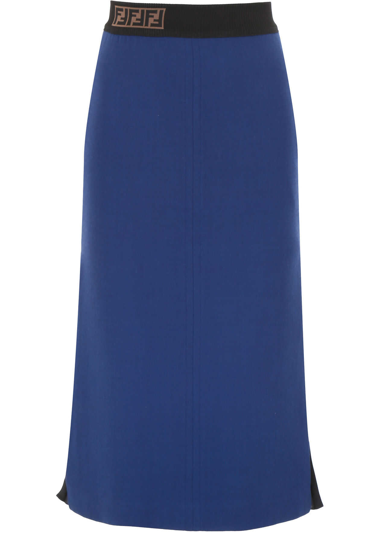 Fendi Pencil Skirt With Pleated Side MARTINIQUE