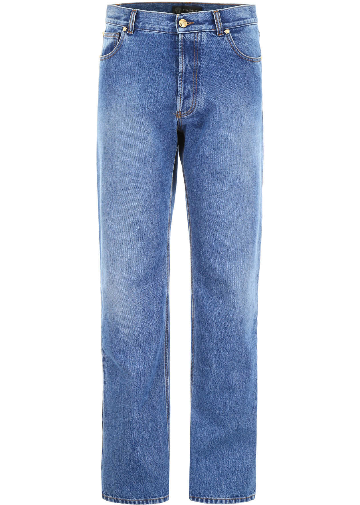 Versace Jeans With Logo Patch BLU SCURO
