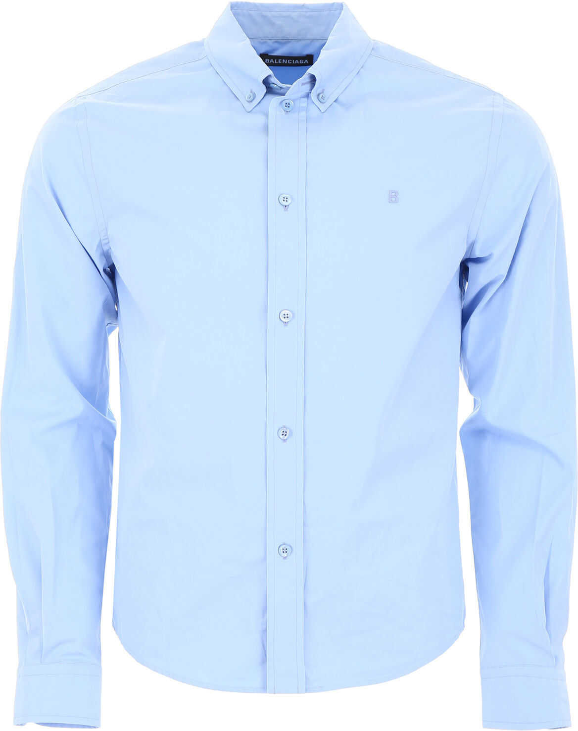 Balenciaga Shirt With Embroidered B BABY BLUE