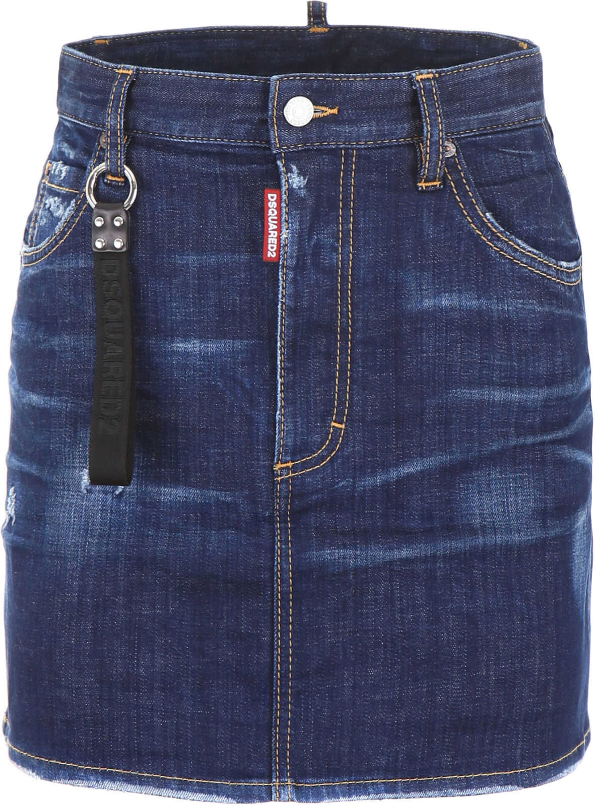DSQUARED2 Denim Mini Skirt BLUE