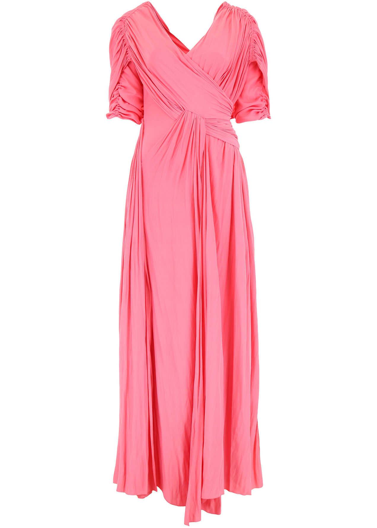 Lanvin Long Silk Dress PINK