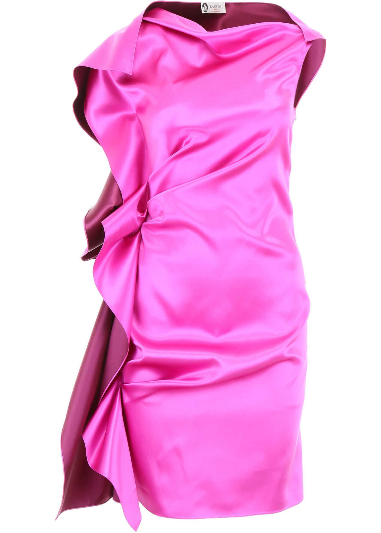Lanvin Ruffled Dress SHOCKING