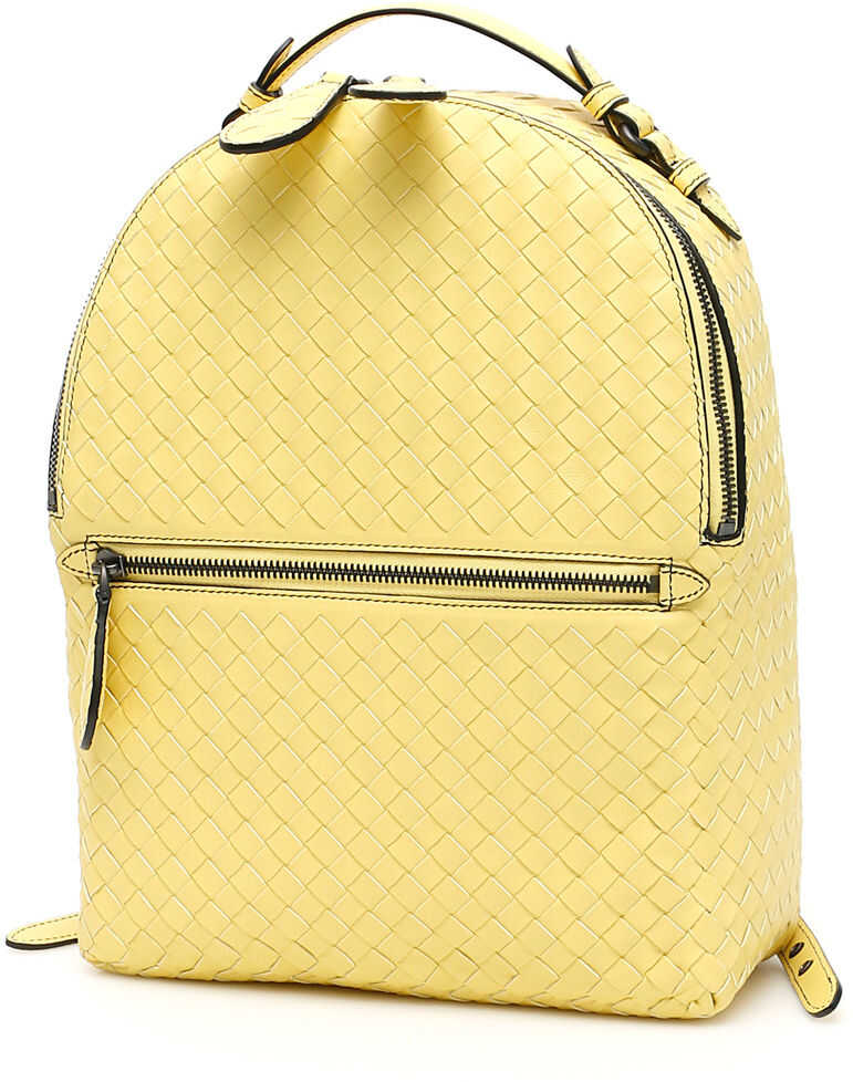 Bottega Veneta Intrecciato Backpack LEMON NERO