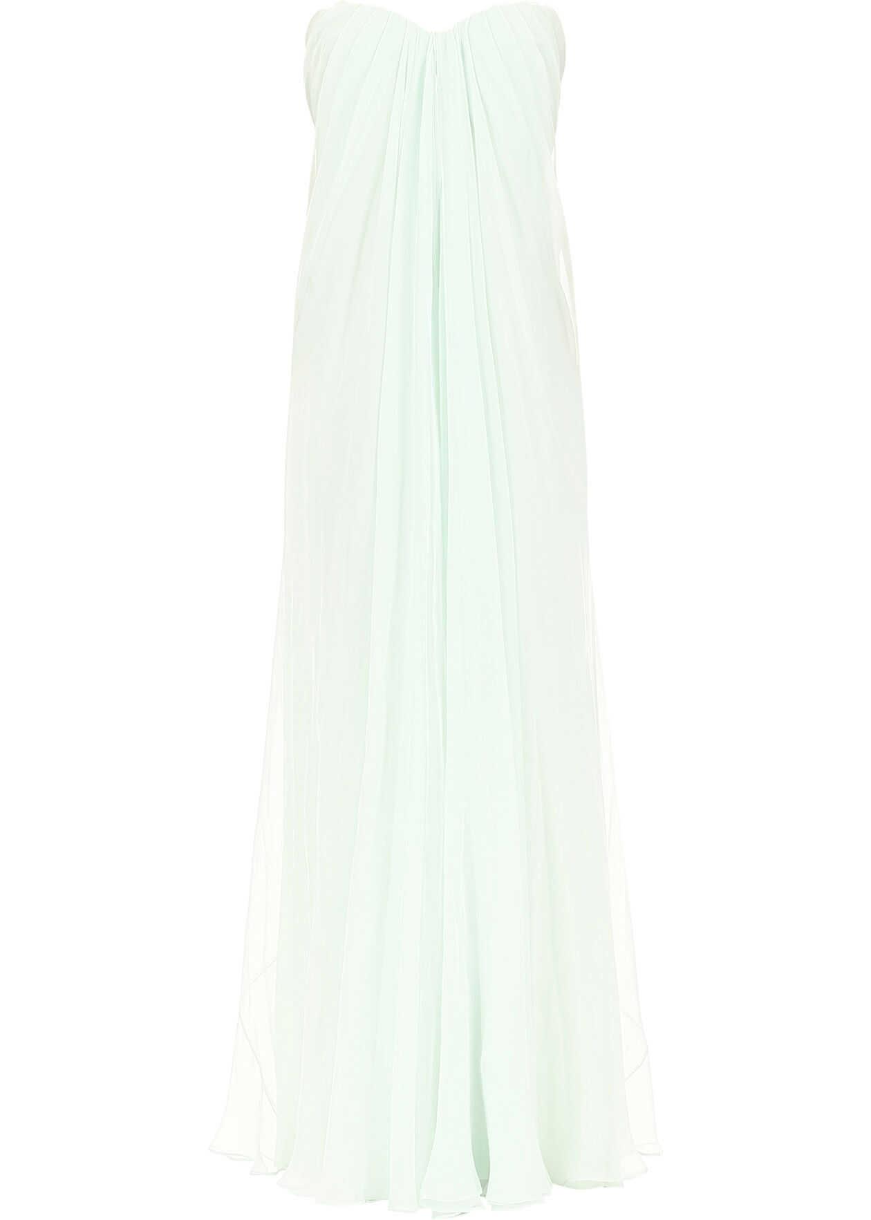 Alexander McQueen Long Silk Dress MINT
