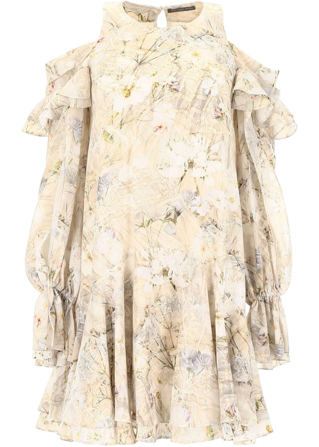 Alexander McQueen Ophelia Dress IVORY MIX