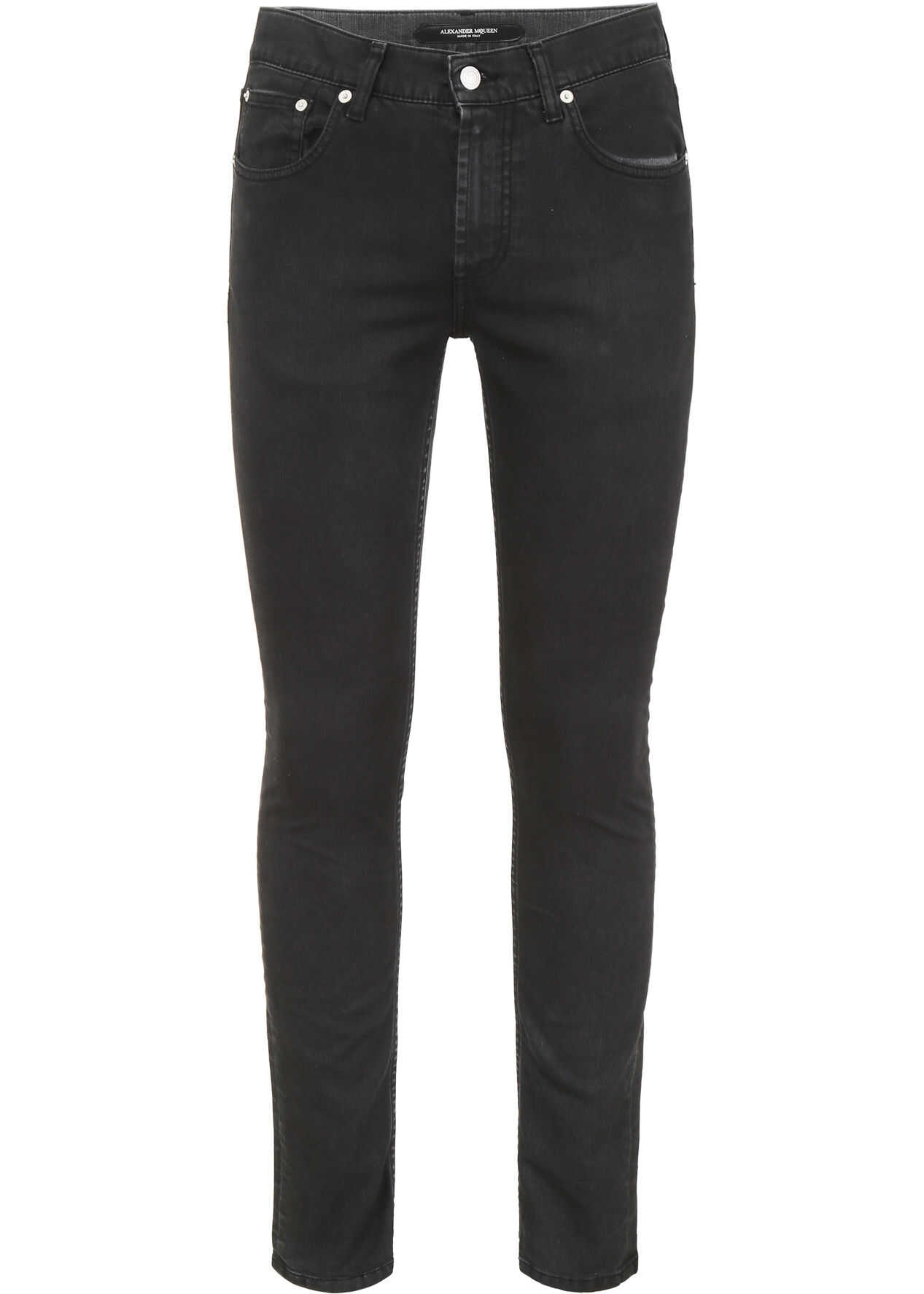 Alexander McQueen Jeans With Logo Embroidery GREY WASHED