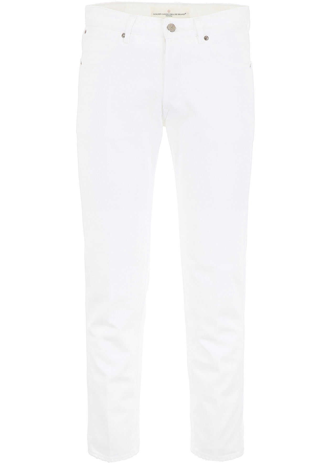 Golden Goose Free Jeans With Five Pockets WHITE