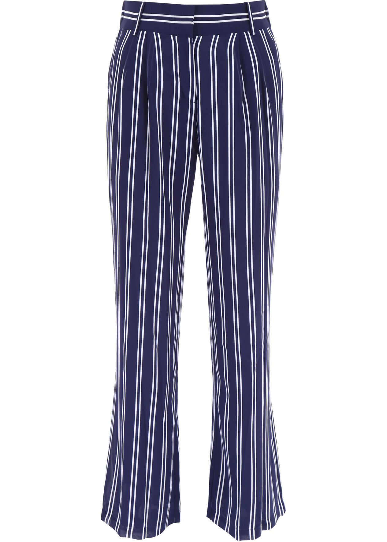 Michael Kors Striped Trousers TRUENVY WHT