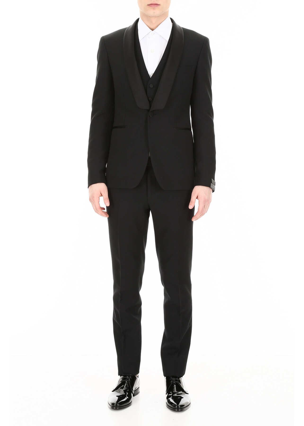 Tagliatore Three-Piece Tuxedo BLACK imagine