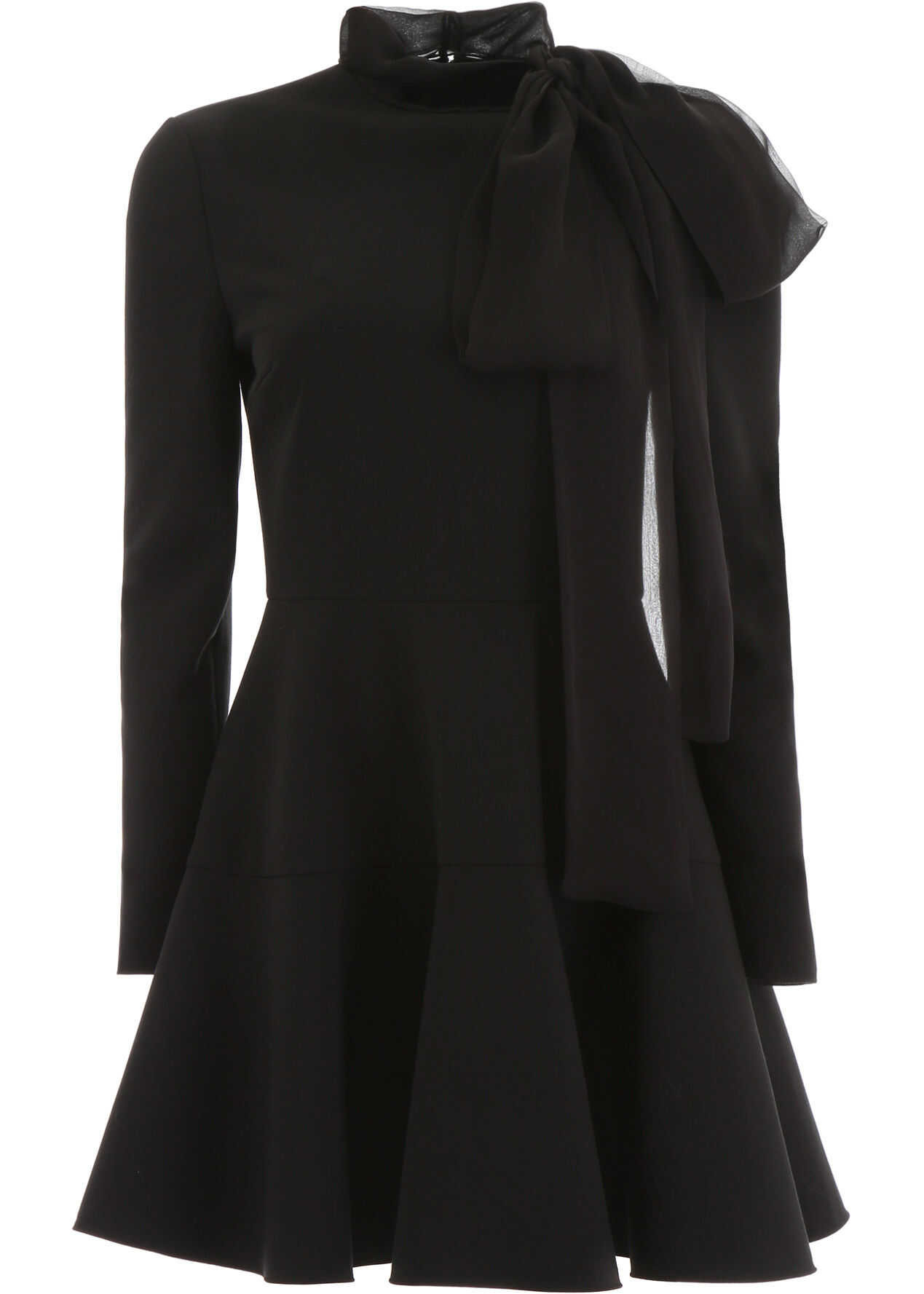 Valentino Garavani Mini Dress With Chiffon Bow NERO