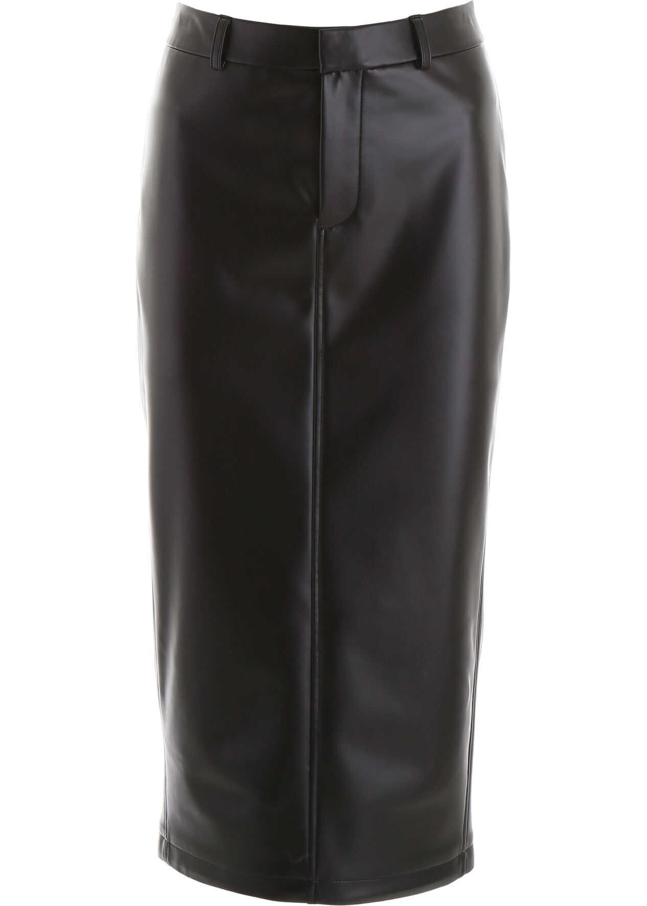 Alexander Wang Faux Leather Skirt BLACK