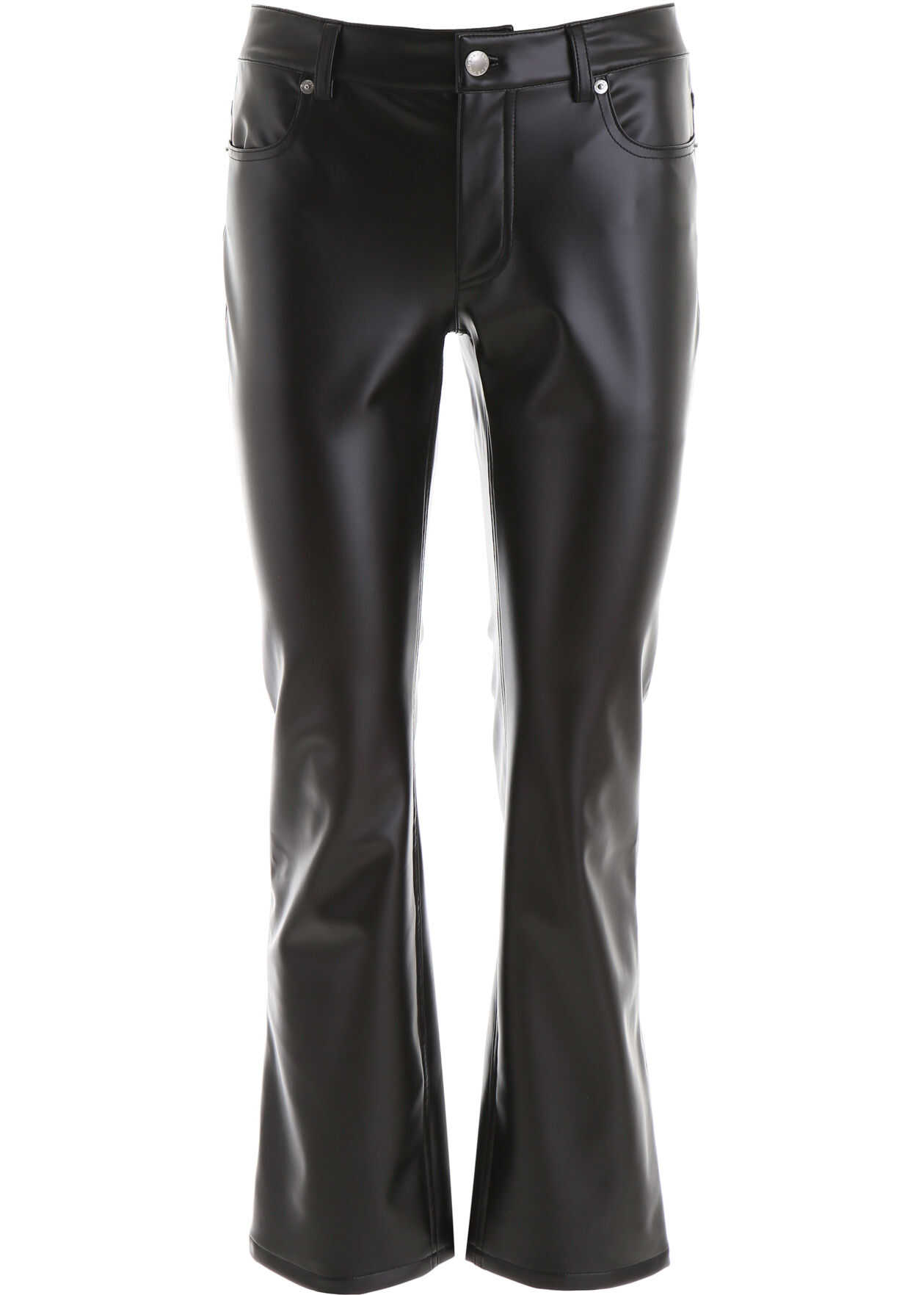 Alexander Wang Faux Leather Trousers BLACK