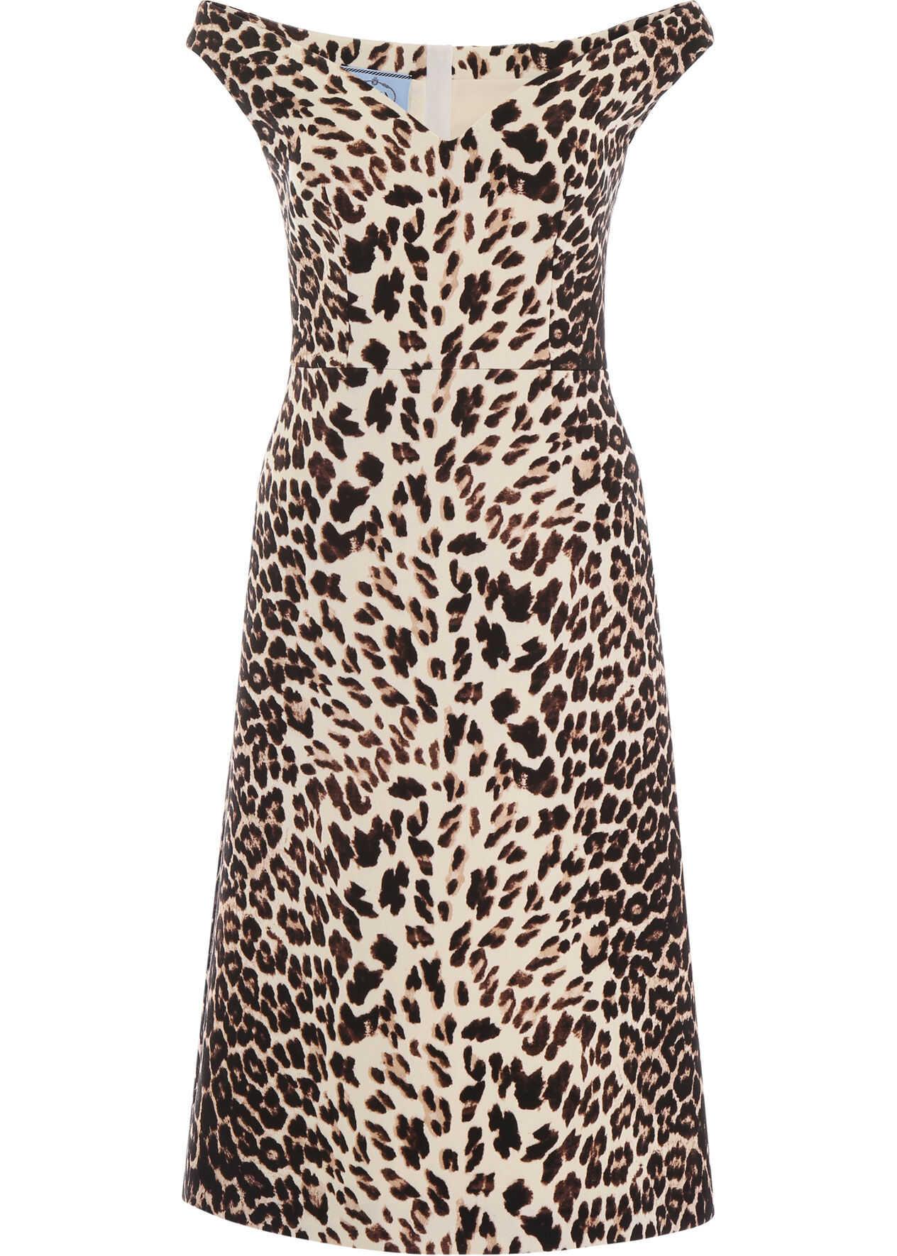 Prada Animalier Dress ALBINO