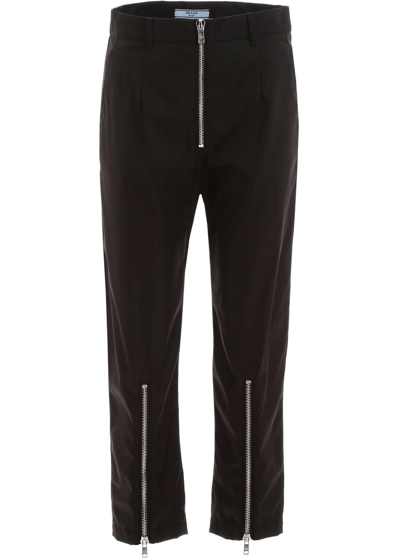 Prada Nylon Trousers NERO NIKEL