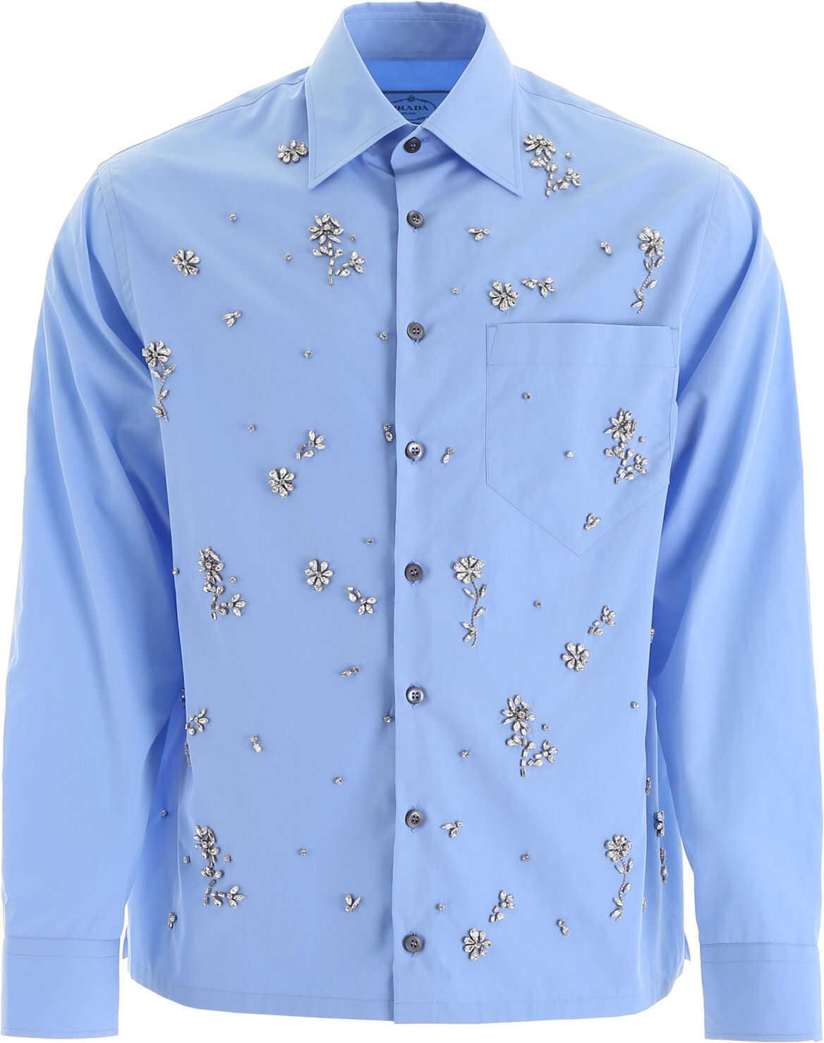 Prada Shirt With Crystals AZZURRO