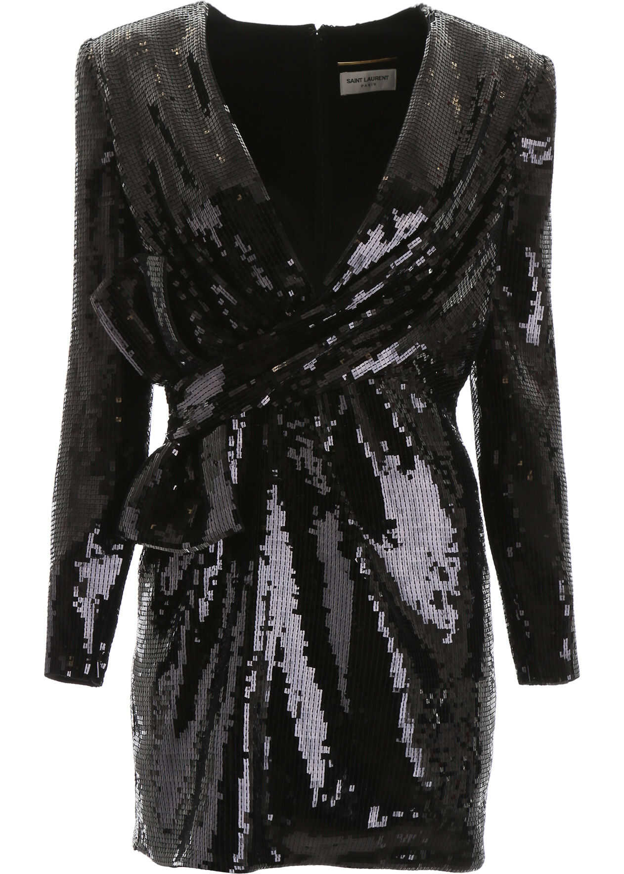 Saint Laurent Sequins Mini Dress NOIR