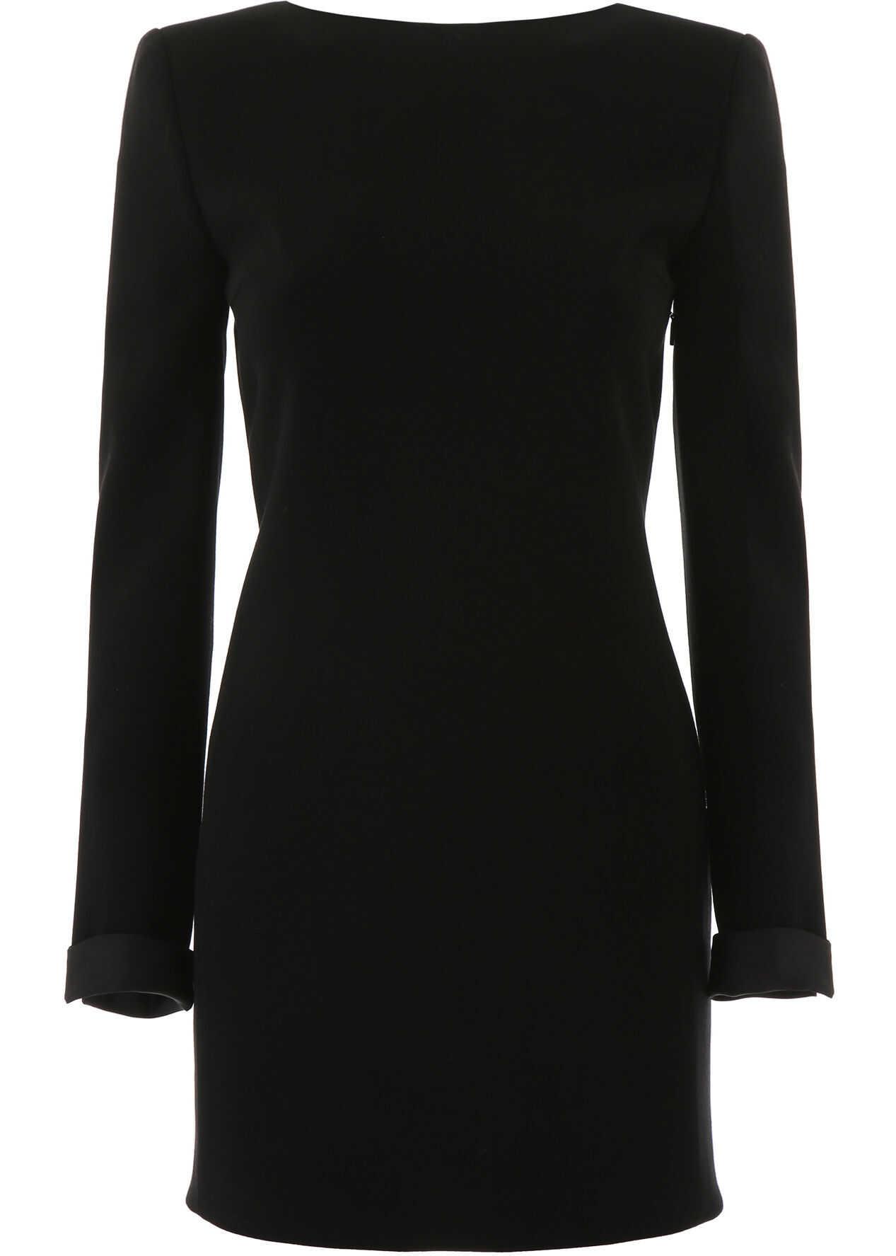 Saint Laurent Mini Dress With Bows NOIR