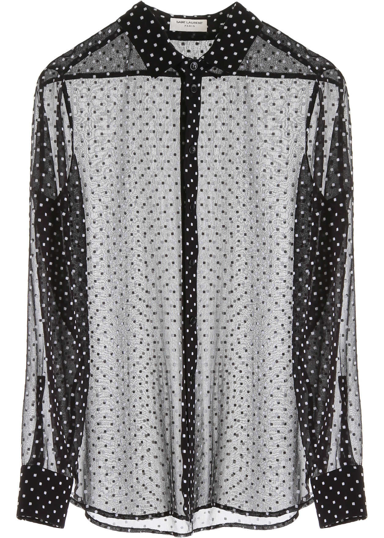 Saint Laurent Dotted Square Shirt NOIR BLANC OPTIQUE