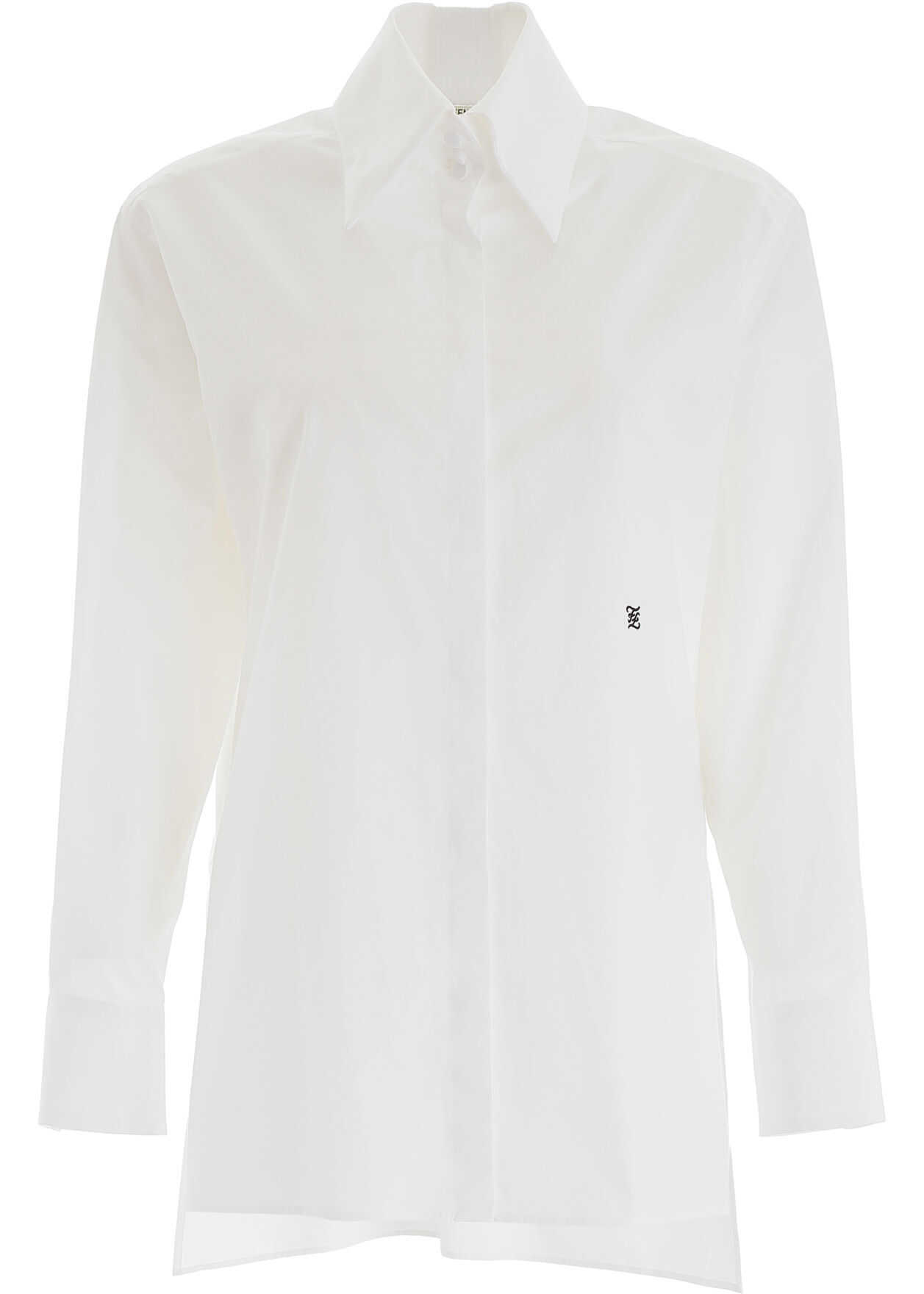 Fendi Ff Karligraphy Shirt WHITE