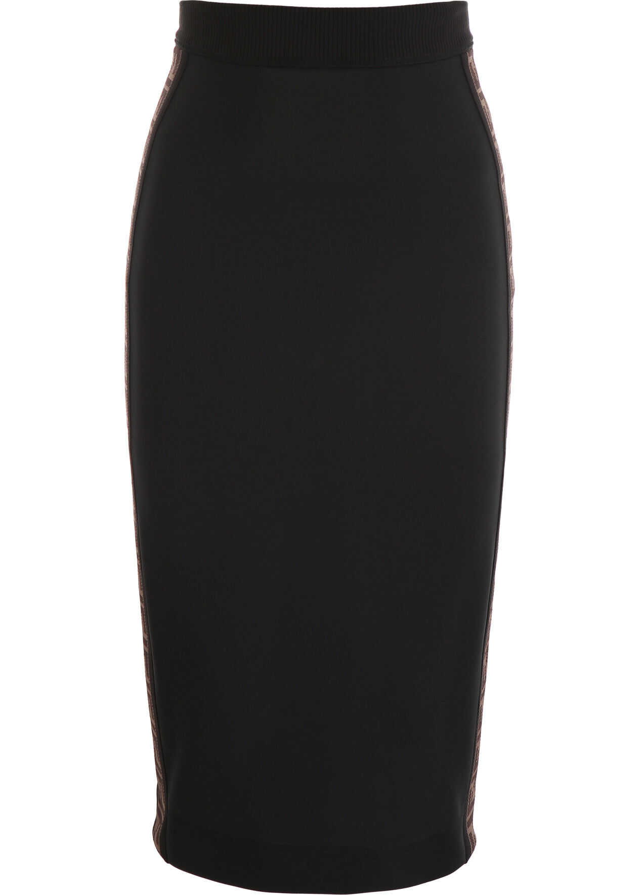 Fendi Pencil Skirt With Ff Bands BLACK