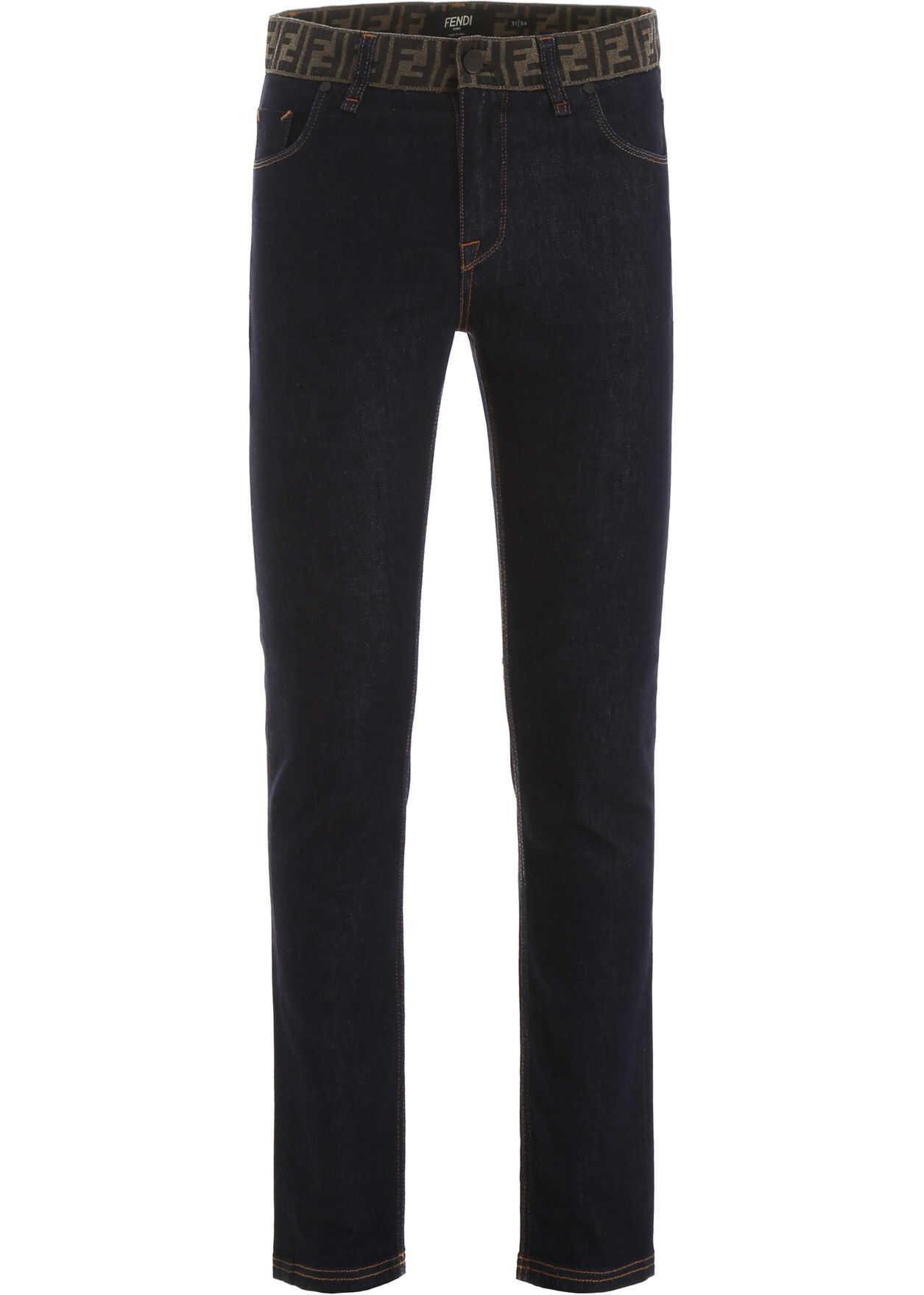 Fendi Ff Logo Jeans DARK BLU