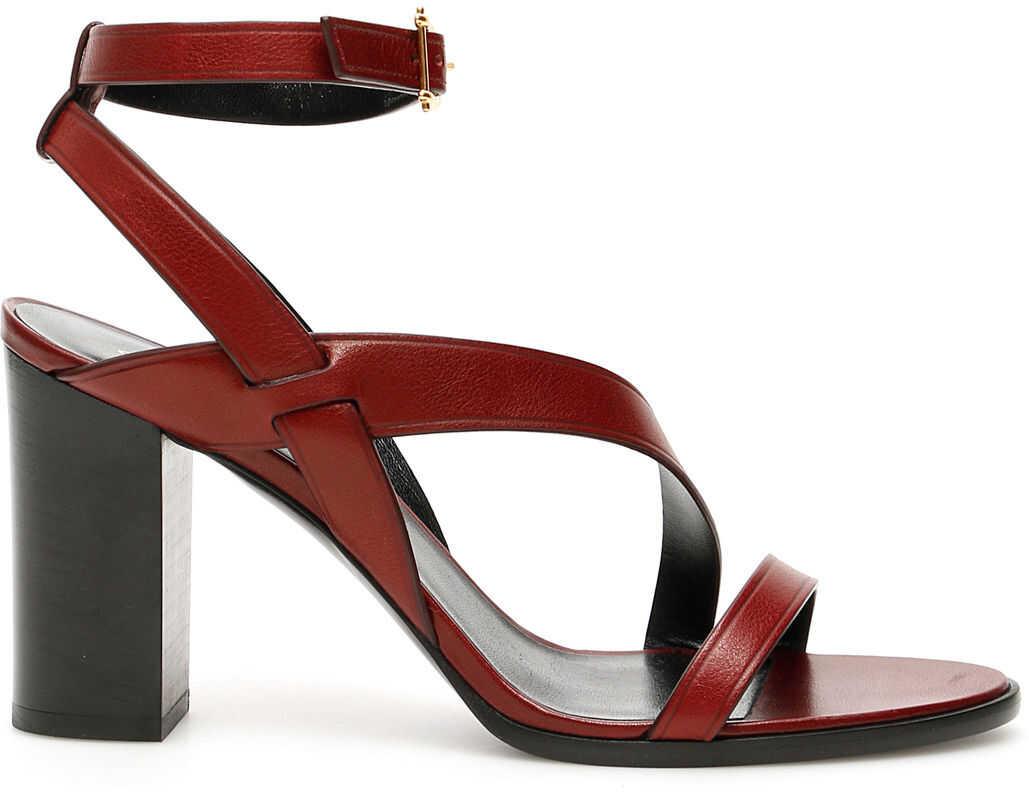 Céline Crecy Sandals BURGUNDY