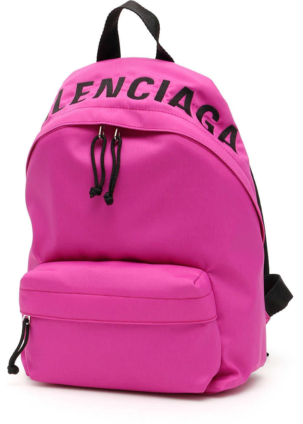 Balenciaga Wheel S Backpack FUCHSIA BLACK