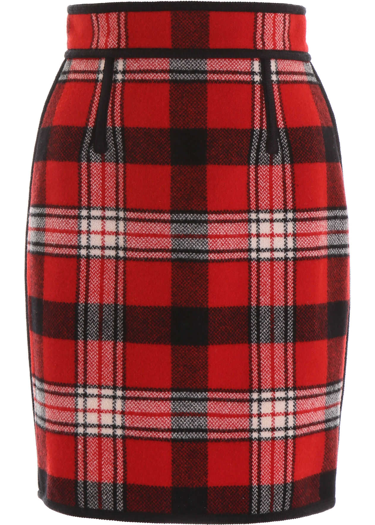 DSQUARED2 Tartan Mini Skirt RED BLACK OFF WHITE