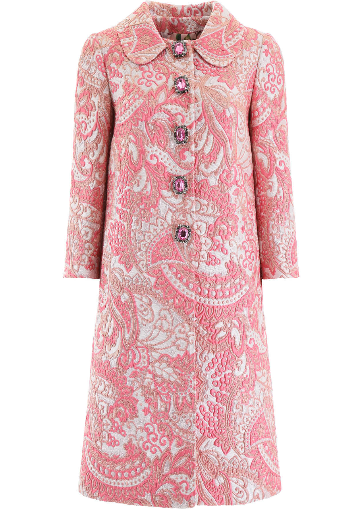 Dolce & Gabbana Lurex Jacquard Coat JACQUARD