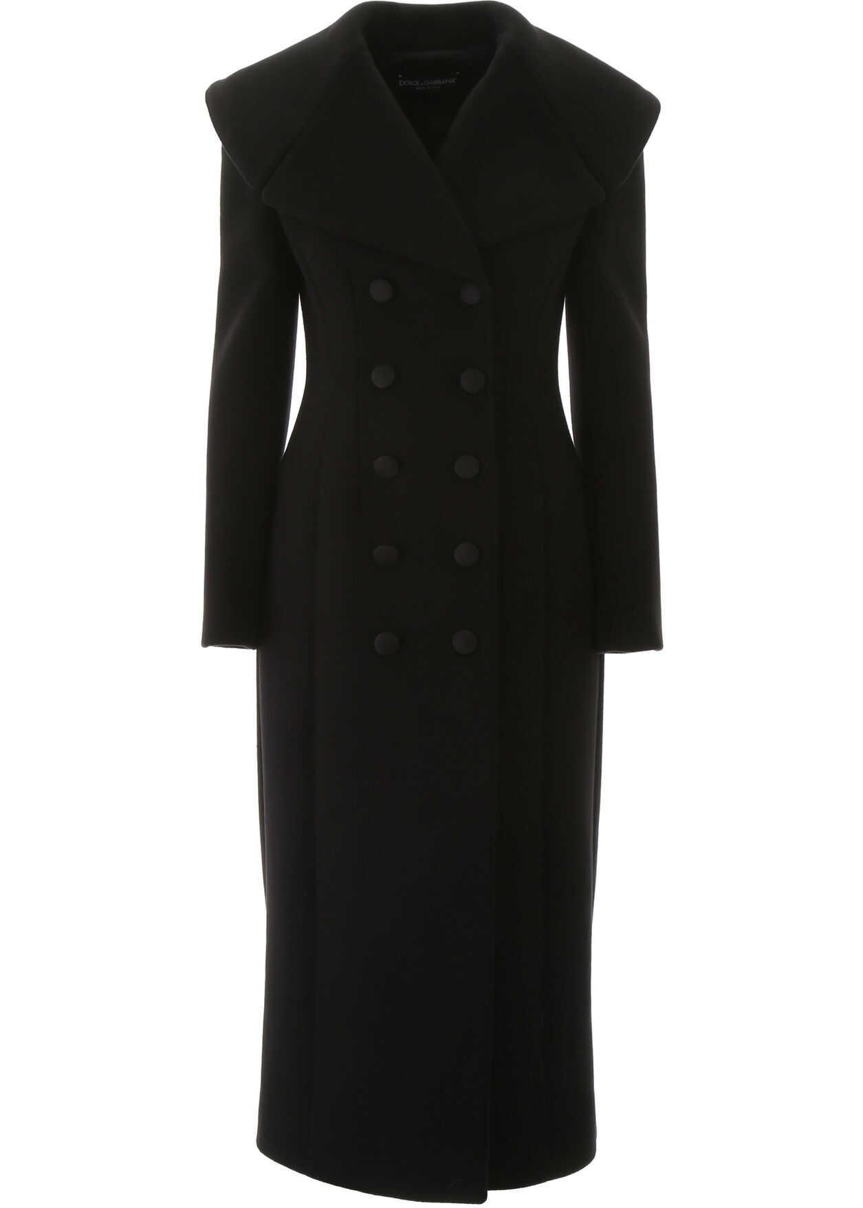 Dolce & Gabbana Long Wool Coat NERO