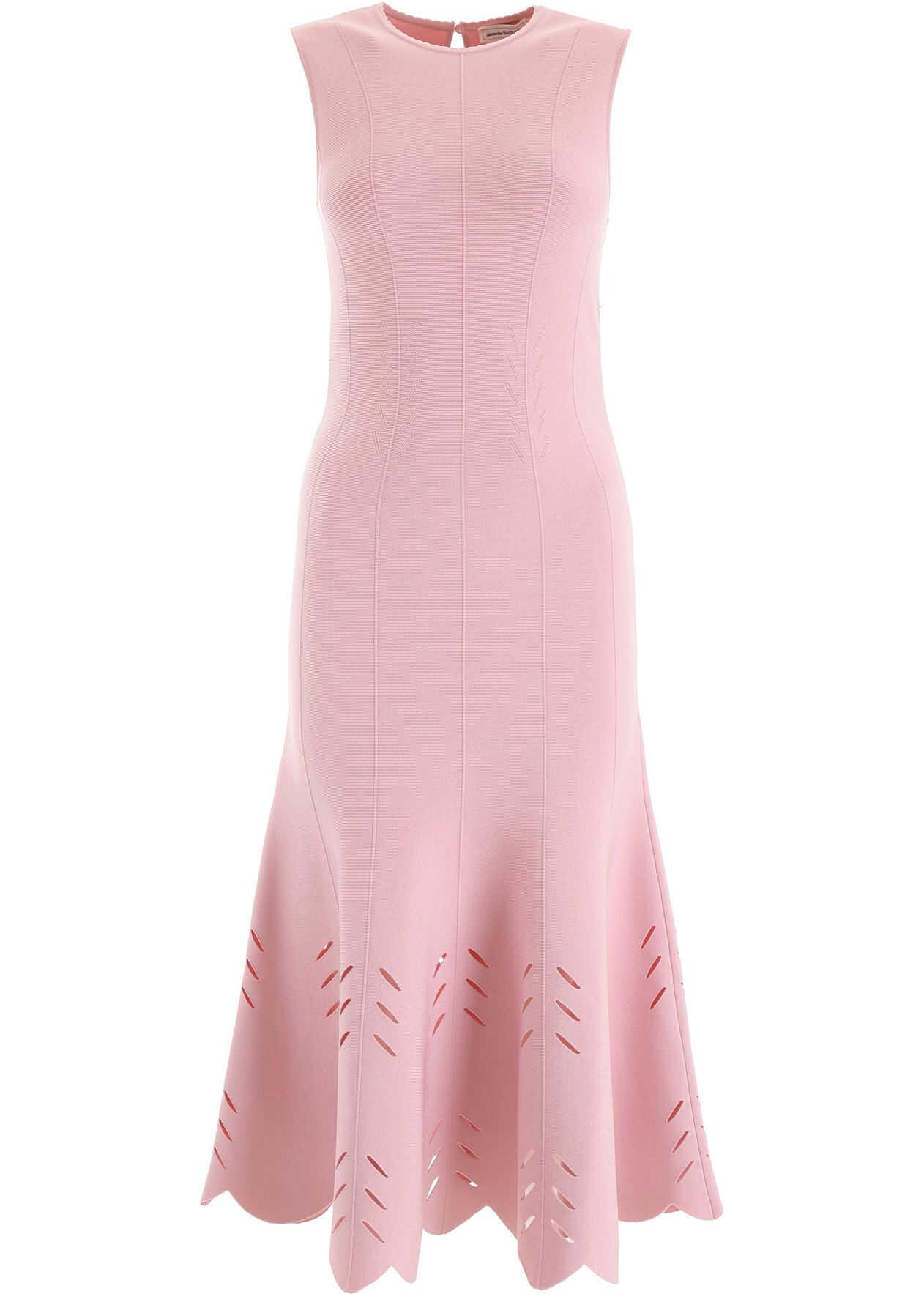 Alexander McQueen Knit Midi Dress BLUSH PINK