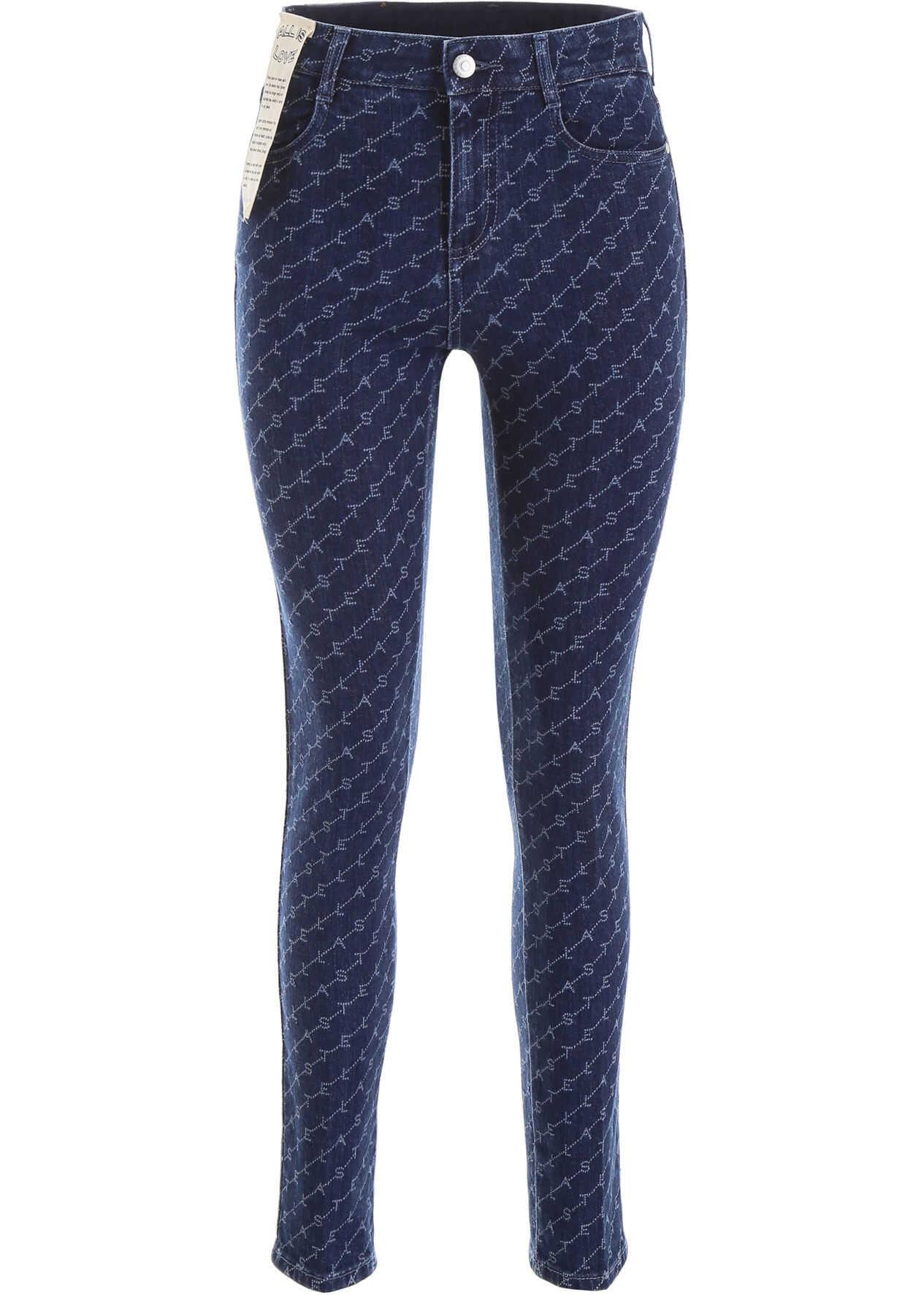adidas by Stella McCartney Monogram Skinny Jeans DARKEST BLUE