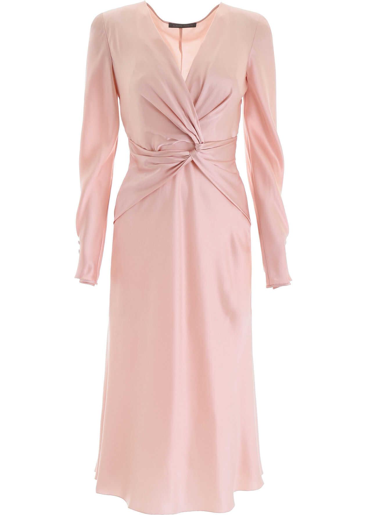 Alberta Ferretti Draped Dress PINK