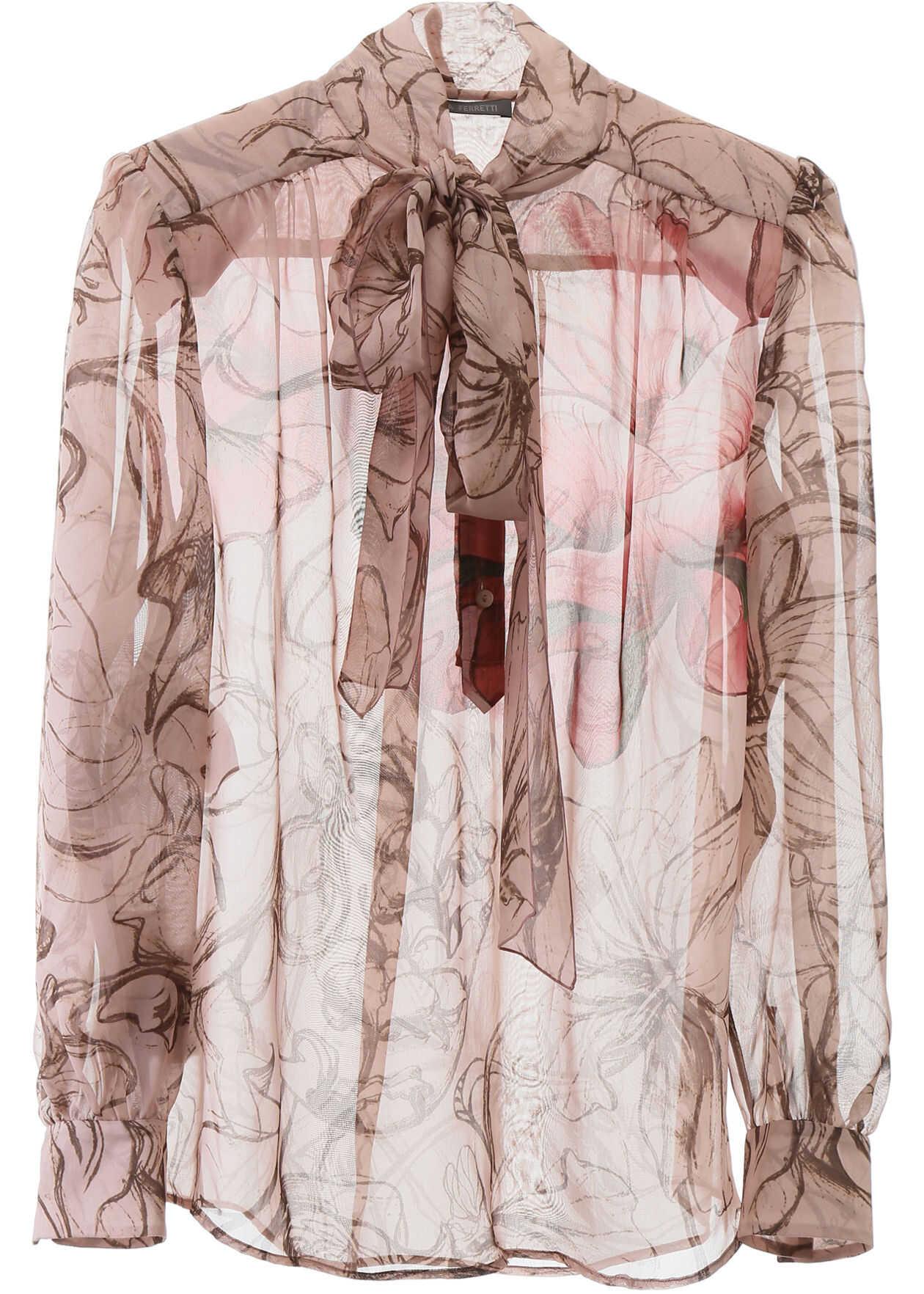 Alberta Ferretti Floral Silk Shirt FANTASY PRINT PINK