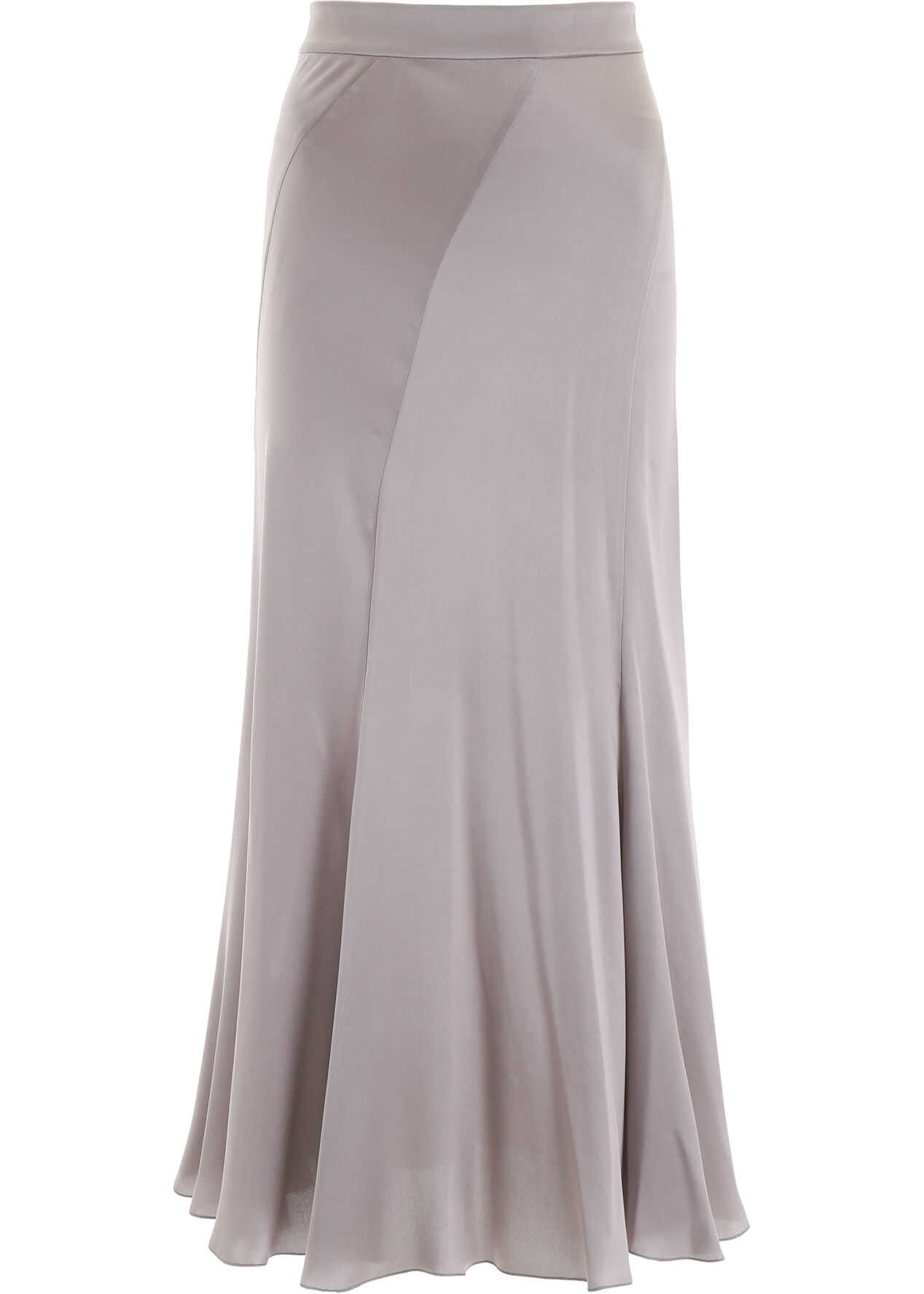 Alberta Ferretti Silk Satin Skirt GREY