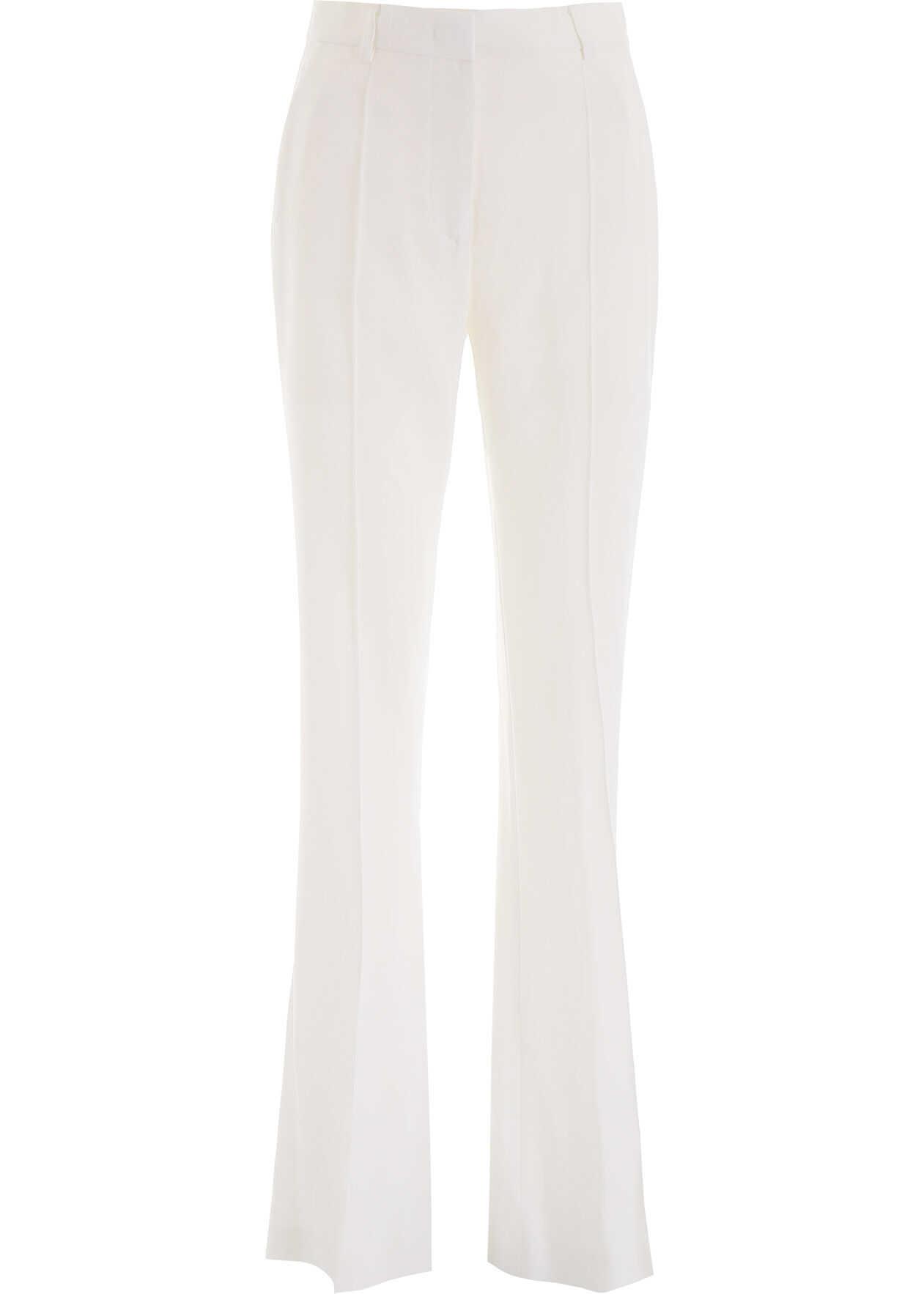 Alberta Ferretti Flare Trousers WHITE