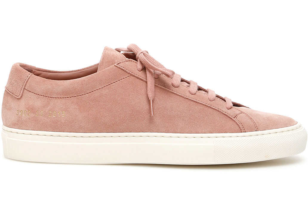 Common Projects Original Achilles Low Suede Sneakers BLUSH