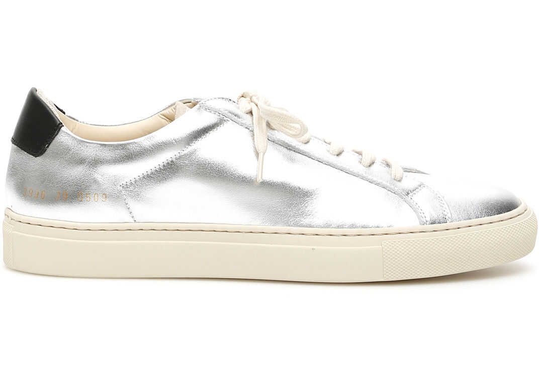 Common Projects Retro Low Special Edition Sneakers SILVER BLACK