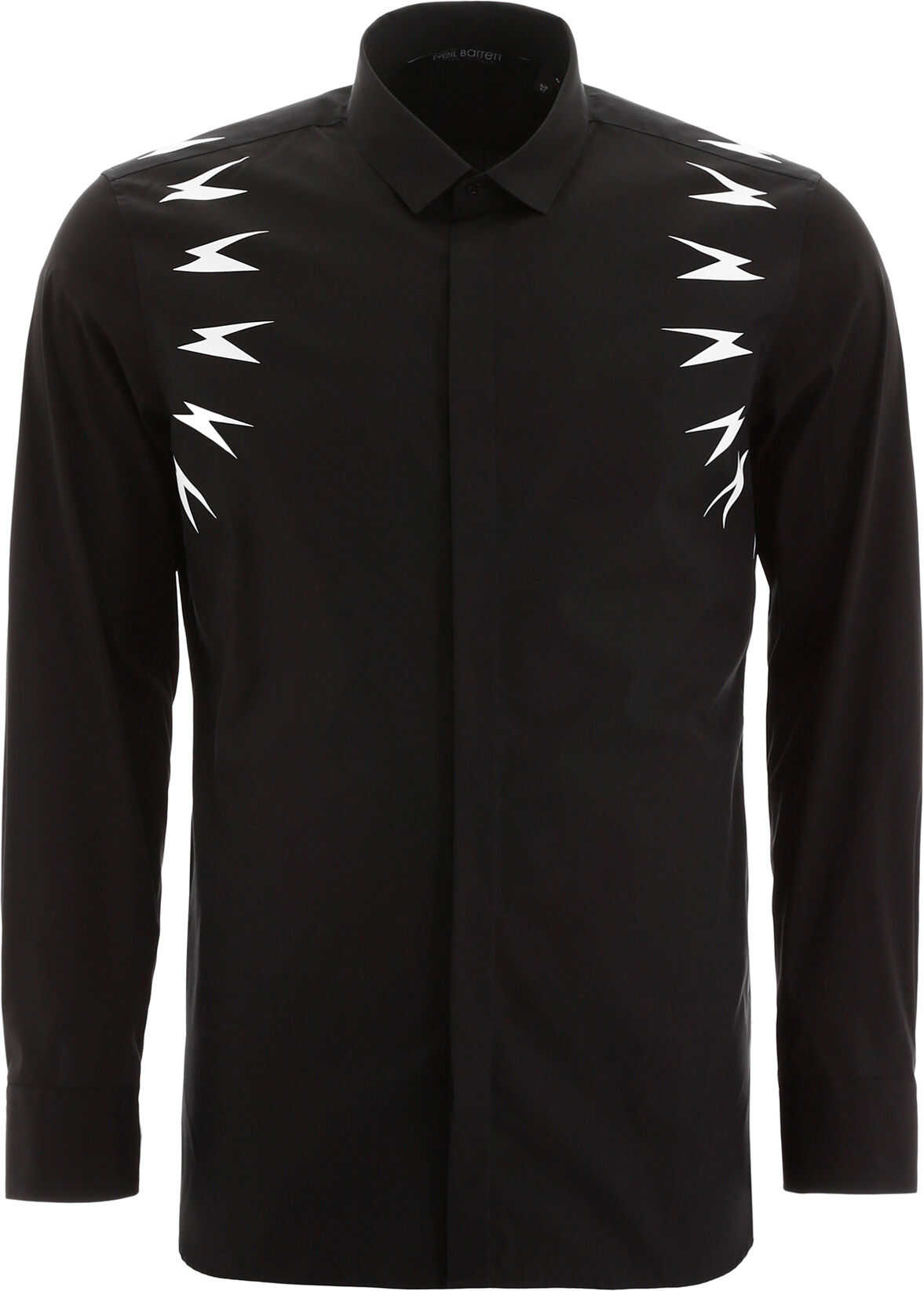 Neil Barrett Thunder Print Shirt BLACK WHITE