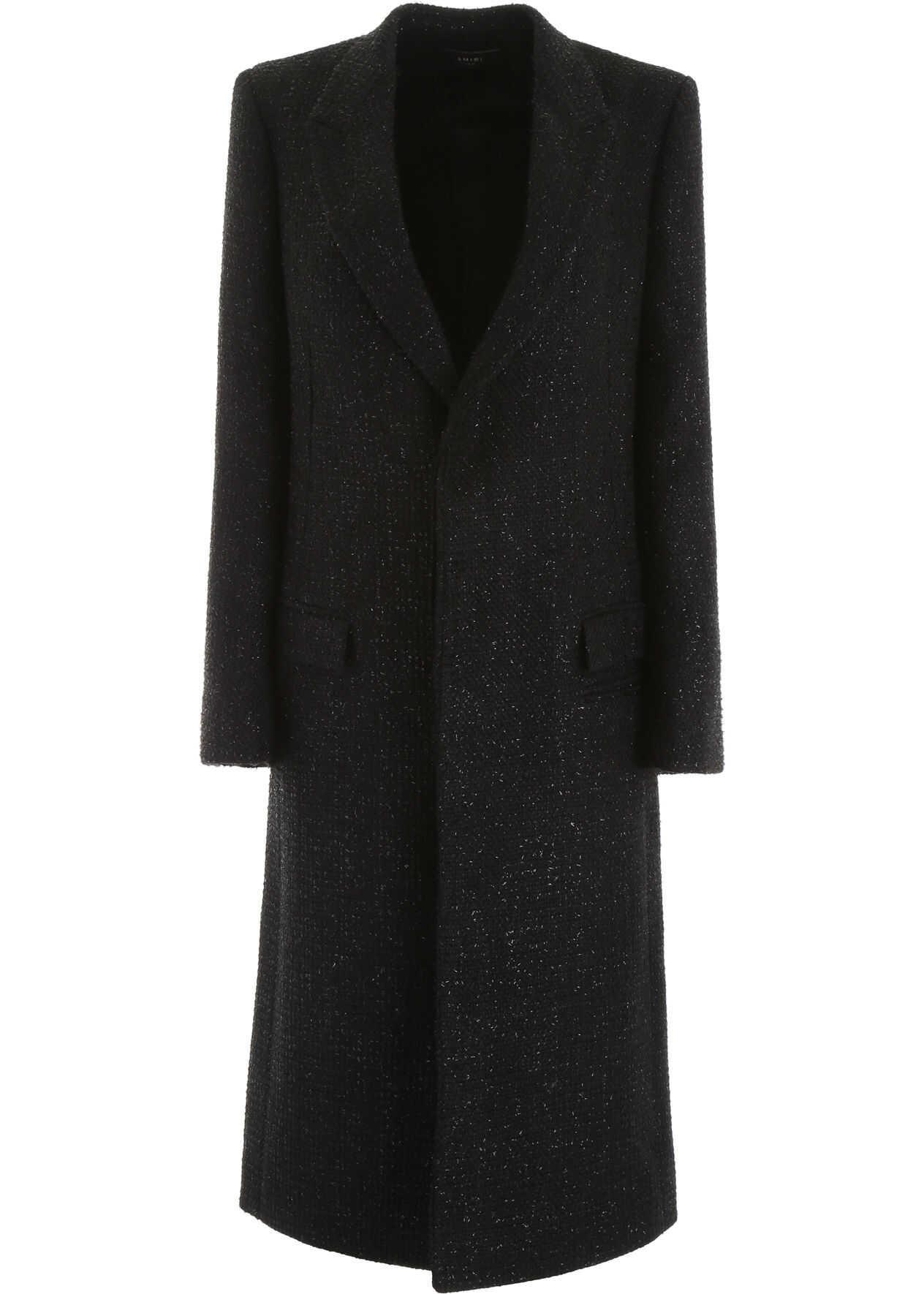 AMIRI Boucle` Coat BLACK