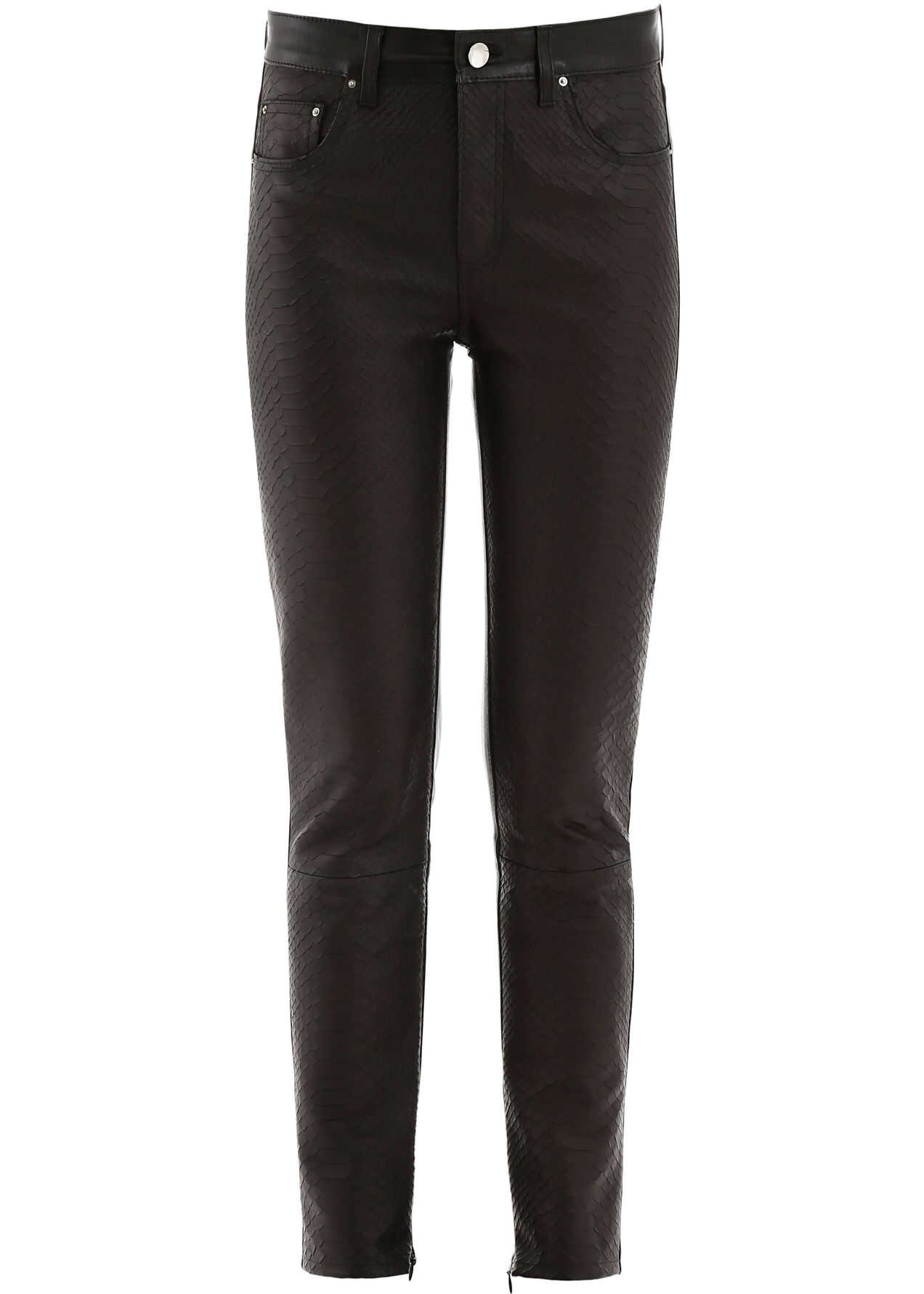AMIRI Python Print Leather Trousers BLACK