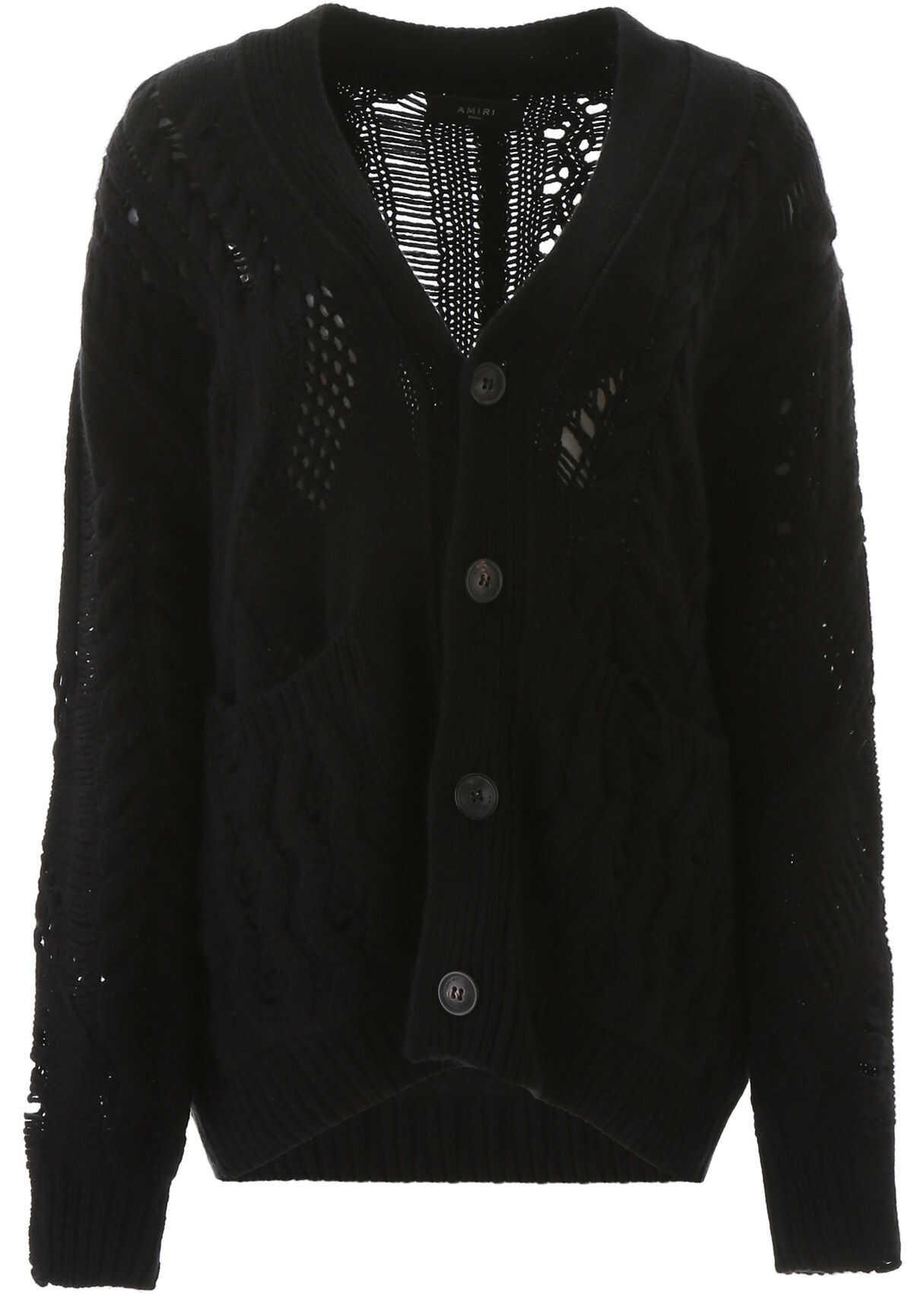 AMIRI Oversized Cardigan BLACK