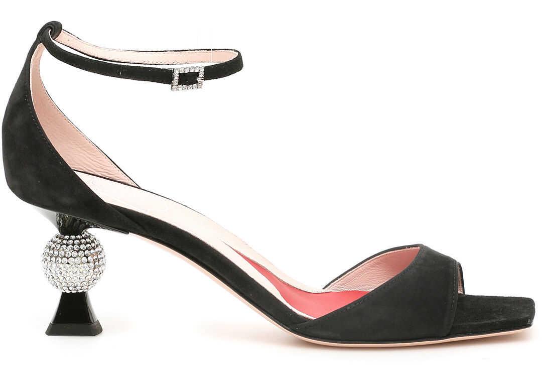 Vivier Marlene Strass Sandals 100