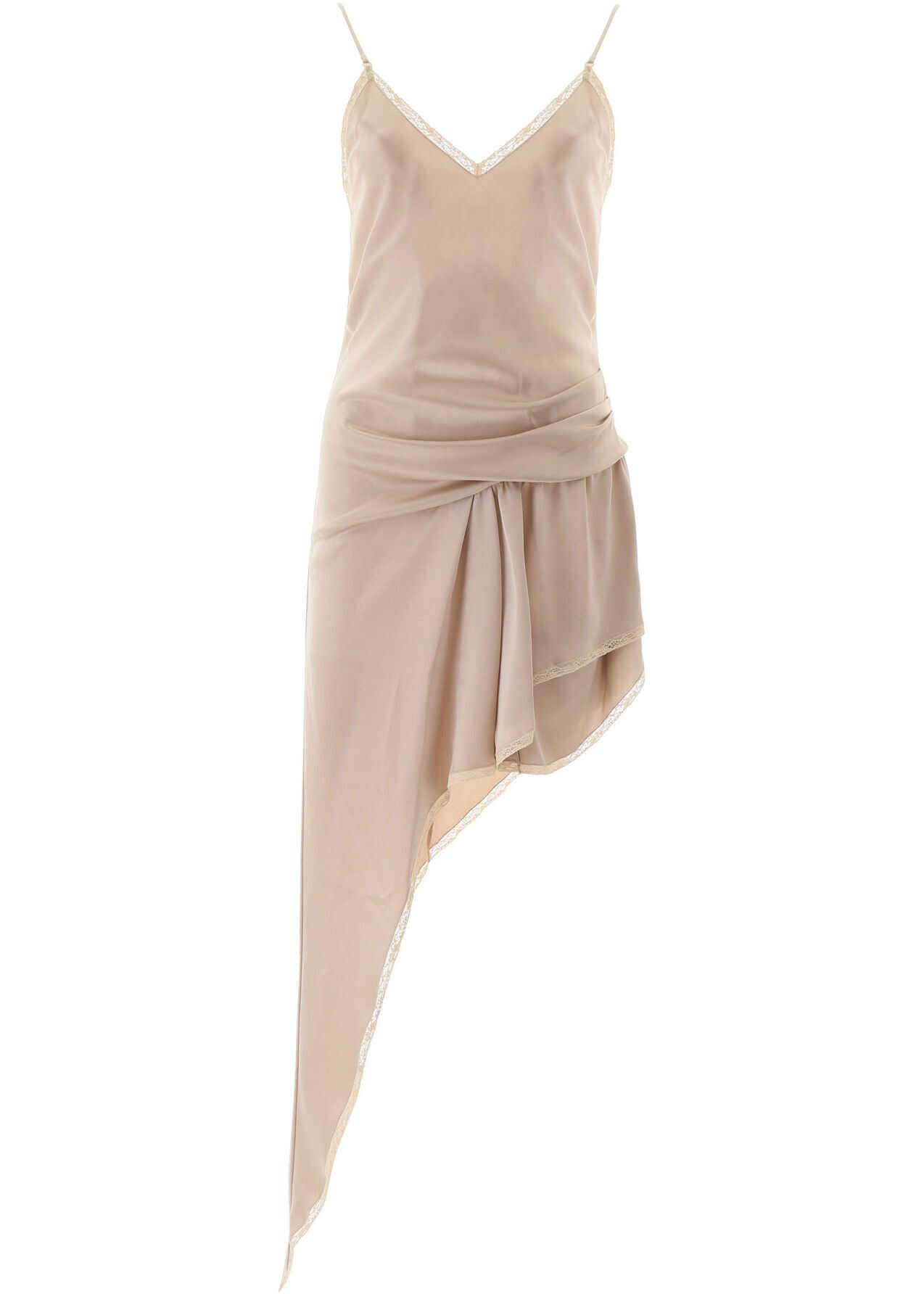 Alexander Wang Asymmetric Dress CHAMPAGNE