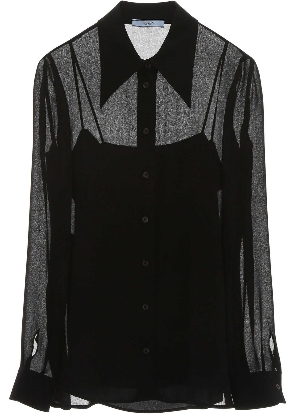 Prada Silk Shirt NERO