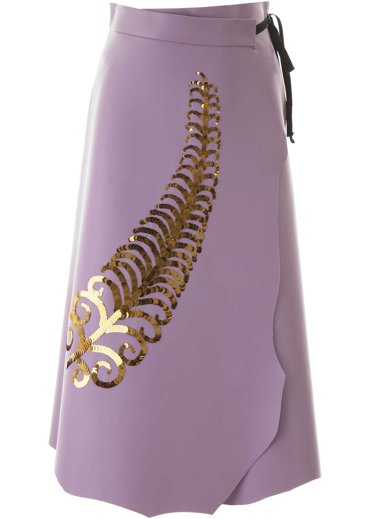 Prada Leather Skirt With Sequin Embroidery LILIUM