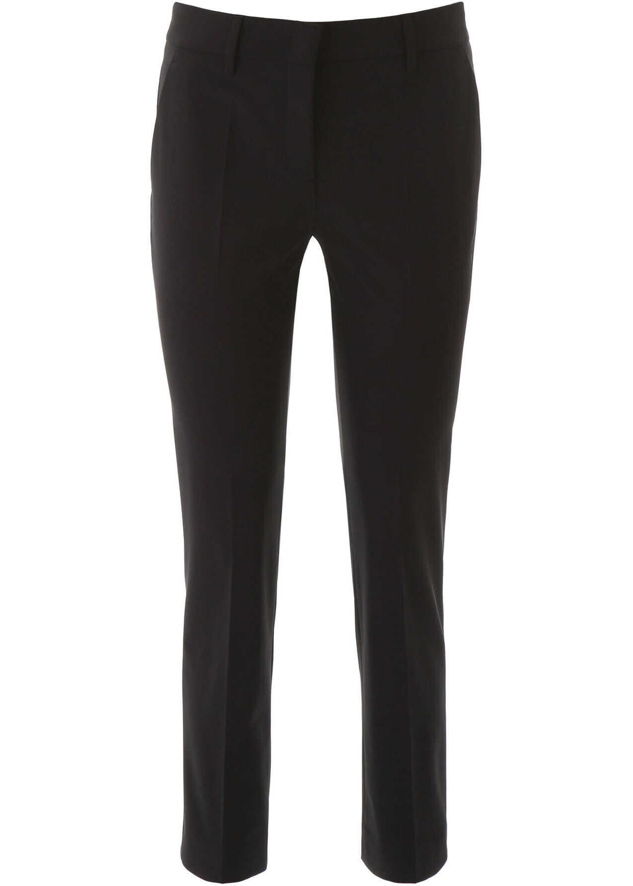 Prada Techno Gabardine Trousers NERO